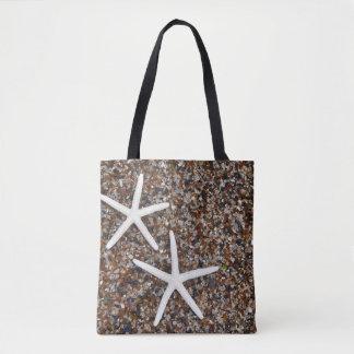Starfish skeletons on Glass Beach Tote Bag