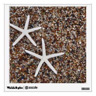 Starfish skeletons on Glass Beach Wall Decal