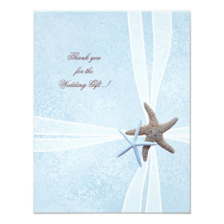 "Starfish Small Wedding Thank You Cards 4.25"" X 5.5"" Invitation Card"