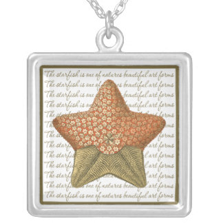 Starfish Square Pendant Necklace