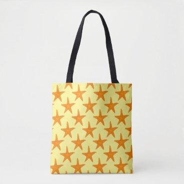 Beach Themed Starfish Star Fish Summertime Beach Tote Bag