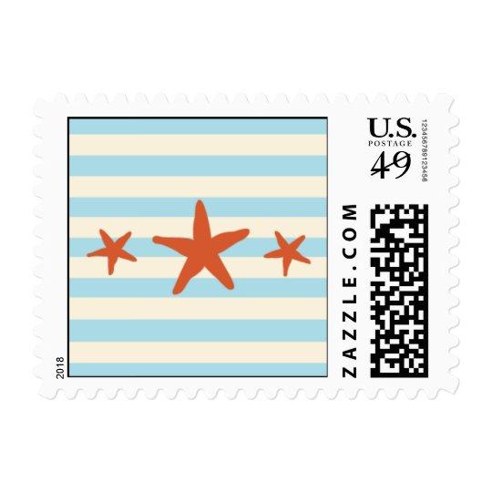 Starfish Stripes Postage