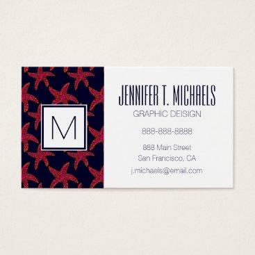 Beach Themed Starfish Style Pattern Business Card