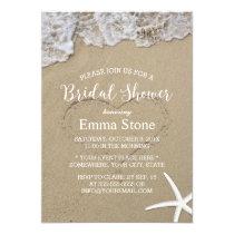 Starfish Summer Beach Wedding Bridal Shower Invitation