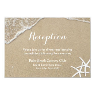 Starfish Summer Beach Wedding Reception Invitation