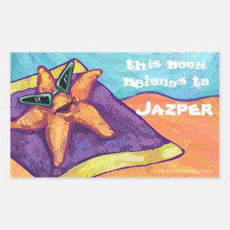 Starfish Sunbathing Bookplate Stickers