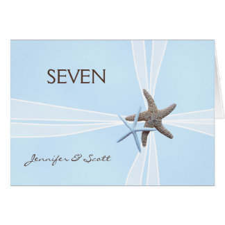 Starfish Table Number Cards