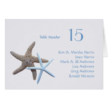 sandpiperwedding Starfish Table Seating All Names Folded Card