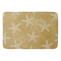 Starfish Tan Sand Bathroom Mat