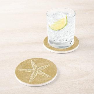 Starfish Tan Sand Drink Coaster