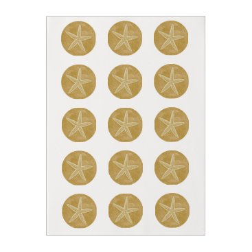 Beach Themed Starfish Tan Sand Edible Frosting Rounds