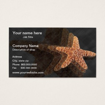 Professional Business Starfish Template Business Card