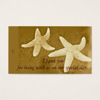 Starfish Thank you Gift Tag