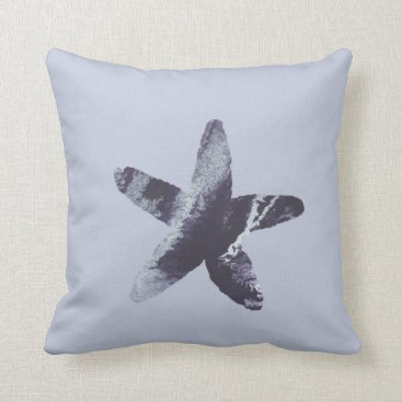 Beach Themed Starfish Throw Pillow