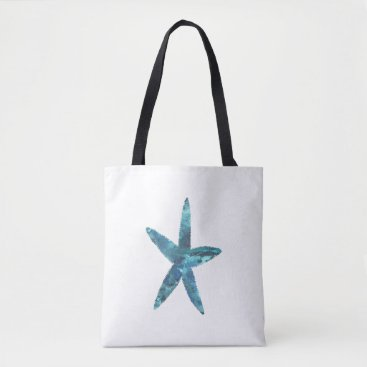 Beach Themed Starfish Tote Bag