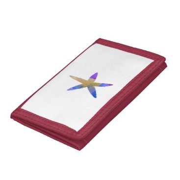 Beach Themed Starfish Trifold Wallets