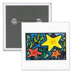 Starfish Trio Pinback Button