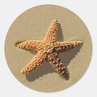 Starfish Tropical Beach Wedding Envelope Seal
