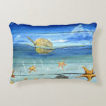 "Starfish Tropical Designer Accent Pillow 16"" x 12"""