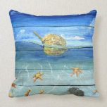"Starfish Tropical Designer Throw Pillow 20"" x 20"""