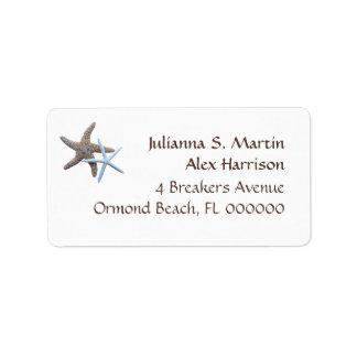 Starfish Tropical Theme Address Label
