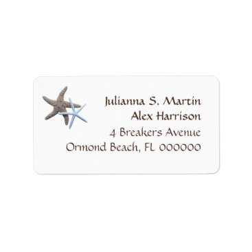 Beach Themed Starfish Tropical Theme Address Label