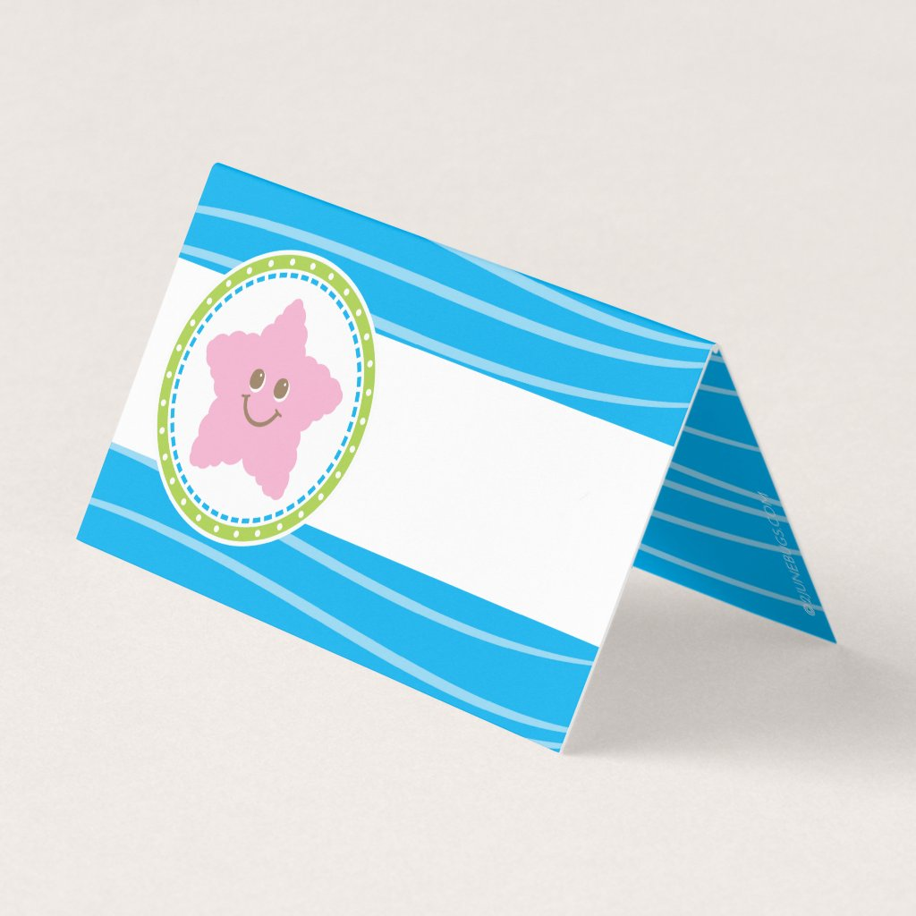 Starfish Under the Sea Birthday Place Card