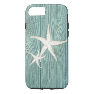 Starfish Vintage Aqua Wood Beach iPhone 7 Case