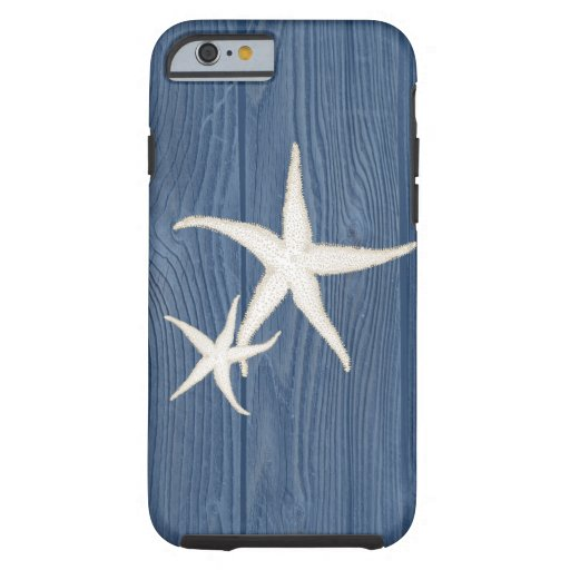 Starfish Vintage Blue Wood Beach iPhone 6 Case