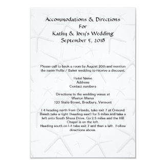 "Starfish Wedding Accommodations Directions Cards 3.5"" X 5"" Invitation Card"