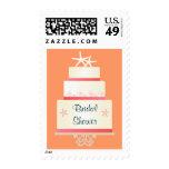 Starfish Wedding Cake - Coral Pink Postage Stamp