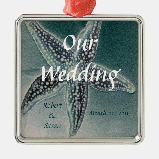 Starfish Wedding Favor Metal Ornament