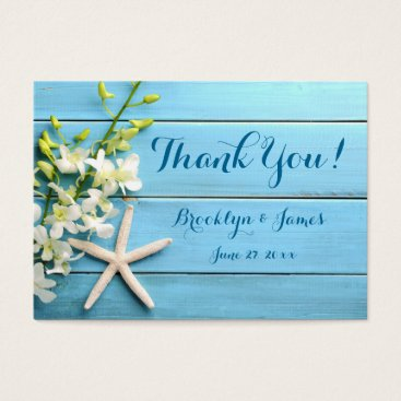 Professional Business Starfish Wedding Favor Tags With Orchids