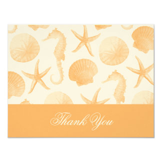 Starfish Wedding Flat Thank You Invitation