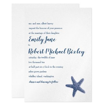 Beach Themed Starfish Wedding Invitation