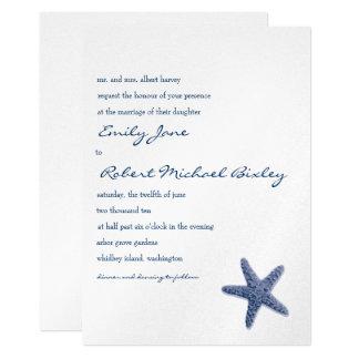 Starfish Wedding Invitation