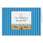 Starfish Wedding Invitation Greeting Cards