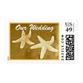Starfish Wedding Invitation Postage Stamps