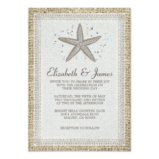 Starfish Wedding Invitations Invitation