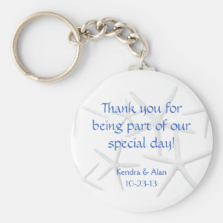 Starfish Wedding Personalized Favors Basic Round Button Keychain