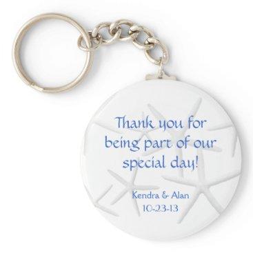 sandpiperwedding Starfish Wedding Personalized Favors Keychain