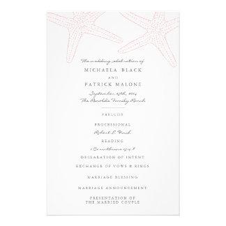 Starfish Wedding Programs