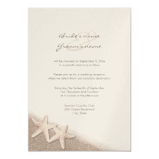 Starfish Wedding Reception Only Invitations