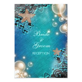 Starfish wedding RECEPTION personalize Custom Invites