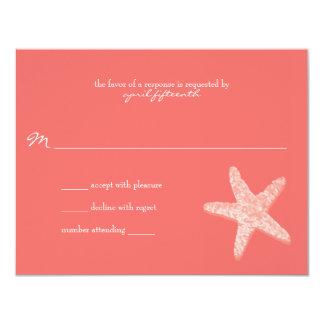 Starfish Wedding Response 4.25x5.5 Paper Invitation Card