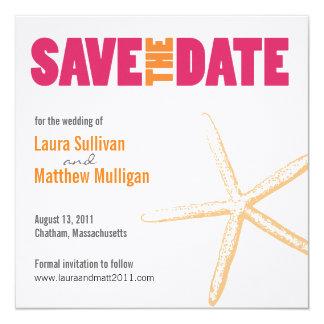 Starfish Wedding Save the Date Card