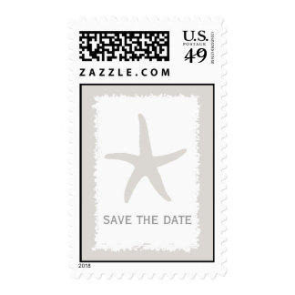 Starfish Wedding Save The Date Postage