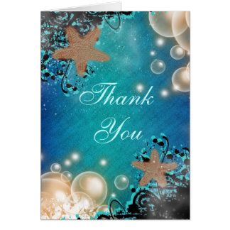 Starfish wedding THANK YOU 2 Cards