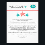"Starfish Welcome Letter for Dominican Republic Letterhead<br><div class=""desc"">Have fun with your destination themed wedding. Dominican Republic Map with Three starfish in Colors TEAL and CORAL. If the color scheme is not what you wanted please email paula@labellarue.com BEFORE ORDERING and I&#39;ll recreate that for you. Please make sure you proof your design before submitting your order. If you...</div>"