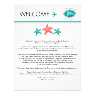 Starfish Welcome Letter for Dominican Republic Letterhead